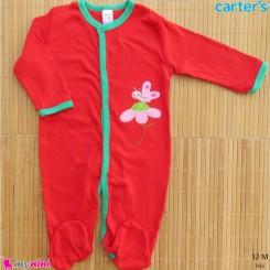 لباس سرهمی کارترز نخ پنبه ای 12 ماه Carter's baby sleepsuit