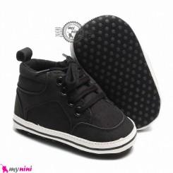 کفش اسپرت نوزاد و کودک ساق دار مشکی Baby footwear
