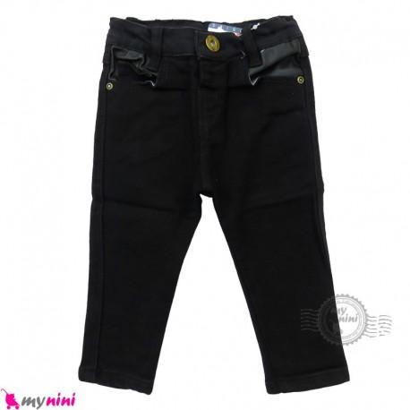 شلوار جین بچه گانه دکمه ای مشکی Baby jeans pants