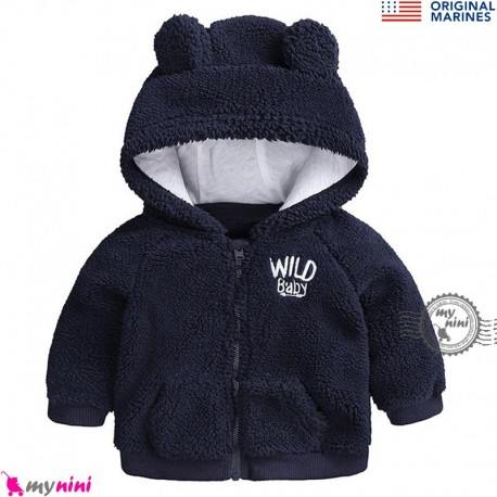 سویشرت گرم بچگانه مارک اورجینال مرینز سرمه ای Original marines baby hooded coat