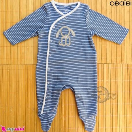 سرهمی نوزاد و کودک نخ پنبه ای مارک اورجینال اُبیبی خرگوش Obaibi baby rabbit shape pajamas
