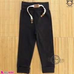 شلوار نخی راحتی بچه گانه بامشی مشکی Bamshi baby cotton pants