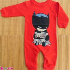 لباس سرهمی بچه گانه نخی دورس قرمز بت من Baby cotton sleepsuits