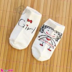 جوراب نوزاد و کودک نخی طرح دختر مارک فیلاردی Baby girl cotton socks