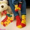 جوراب هندوانه ای زنانه نخی تا به تا سایز 36 تا 40 women cotton socks