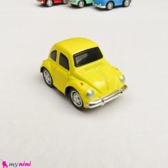 ماشین فلزی عقب کش مدل قدیمی رنگ زرد mini diecast old cars toys