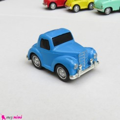 ماشین فلزی عقب کش مدل قدیمی رنگ آبی mini diecast old cars toys