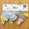 جوراب مچی 3 عددی نوزادی نخی مارک پولو baby cute socks