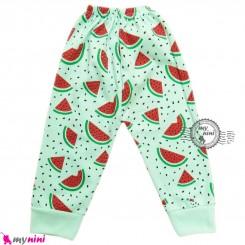 شلوار هندوانه ای نوزاد و کودک cute watermelon baby clothes