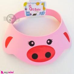 کلاه محافظ حمام نوزاد و کودک صورتی خوک Baby Shower Cap