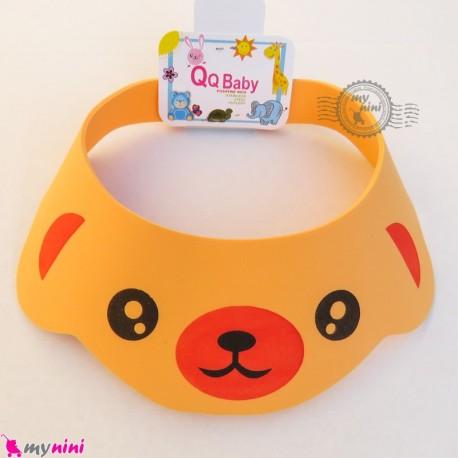 کلاه محافظ حمام نوزاد و کودک نارنجی خرس Baby Shower Cap