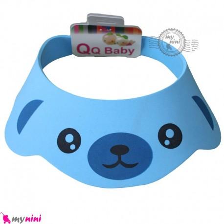 کلاه محافظ حمام نوزاد و کودک آبی خرس Baby Shower Cap