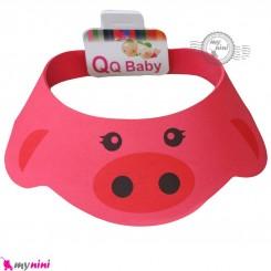 کلاه محافظ حمام نوزاد و کودک سرخابی خوک Baby Shower Cap