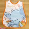 پیشبند نایلونی جیب دار نارنجی فیل Baby waterproof bib