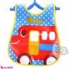 پیشبند نایلونی جیب دار اتوبوس قرمز Baby waterproof bib