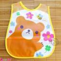 پیشبند نایلونی جیب دار زرد خرس Baby waterproof bib