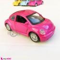 ماشین فلزی عقب کش فولکس صورتی متالیک diecast cars toys
