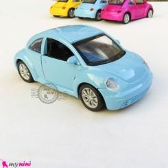 ماشین فلزی عقب کش فولکس آبی متالیک diecast cars toys