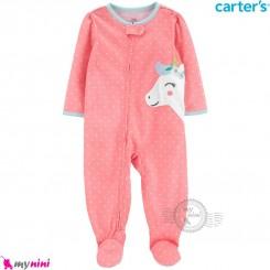 سرهمی کارترز اورجینال نخ پنبه صورتی یونی کورن carter's pajamas