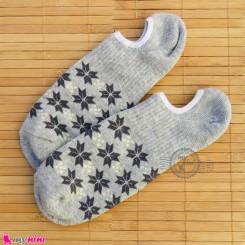 جوراب حوله ای قوزکی زنانه سایز 36 تا 40 رنگ طوسی روشن women warm socks