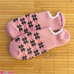 جوراب حوله ای قوزکی زنانه کالباسی women warm socks