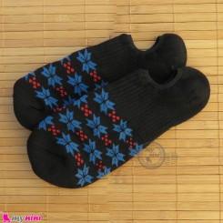 جوراب حوله ای قوزکی زنانه سایز 36 تا 40 رنگ مشکی women warm socks