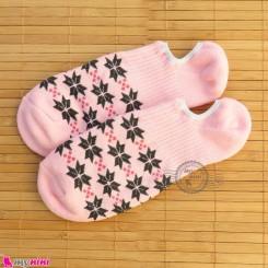 جوراب حوله ای قوزکی زنانه سایز 36 تا 40 رنگ صورتی women warm socks