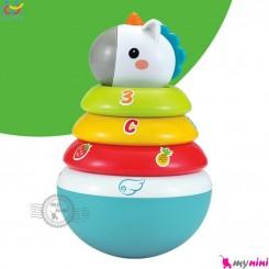 اسباب بازی آموزشی تعادلی یونی کورن هویلی تویز Huile toys Roly-poly Unicorn