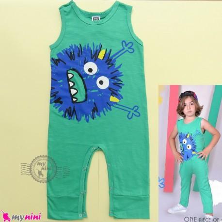 اورال بچگانه نخی سبز غول cotton baby overall