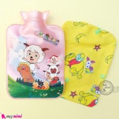 کیسه آبگرم و آبسرد کاوردار بزرگ نوزاد و کودک صورتی گوسفند Hot and cold Water Bottle