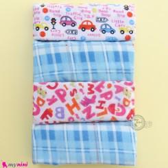 خشک کن نوزاد پنبه ای 4 عددی نارنجی ماشین Mama papa baby blanket