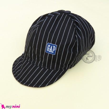 کلاه اسپرت نقابدار بچه گانه مشکی خط دار طرح گپ baby cotton cap