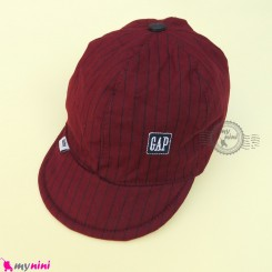 کلاه اسپرت نقابدار بچه گانه زرشکی خط دار طرح گپ baby cotton cap