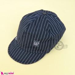 کلاه اسپرت نقابدار بچه گانه سرمه ای خط دار طرح گپ baby cotton cap