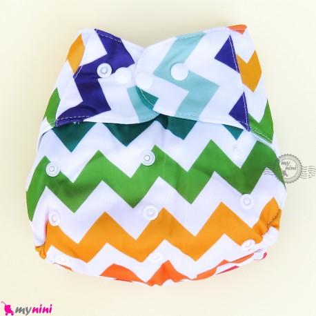 شورت آموزشی نوزاد و کودک 3 لایه زیگزاگ رنگی مارک کارته بِی بی carte baby reusable diaper