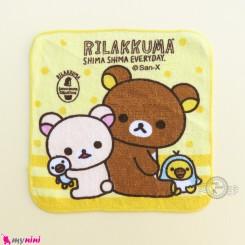 حوله دست و صورت نوزاد و کودک زرد خرس Baby washcloths