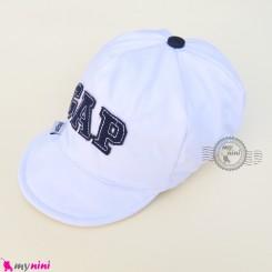 کلاه اسپرت نقابدار بچه گانه سفید گپ baby cotton cap
