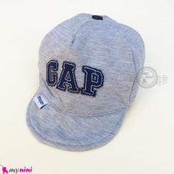 کلاه اسپرت نقابدار بچه گانه طوسی گپ baby cotton cap