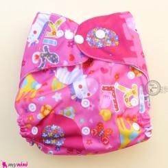 شورت آموزشی نوزاد و کودک 3 لایه صورتی حیوانات مارک کارته بِی بی carte baby reusable diaper