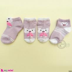 جوراب 3 عددی نخ پنبه ای بچگانه خوک مارک فیلاردی filardi Baby cotton socks