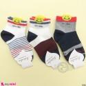 جوراب 3 عددی نخ پنبه ای بچگانه طرح اسمایل مارک کاتامینو filardi Baby cotton socks