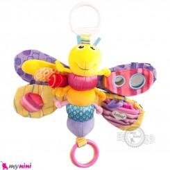 آویز کریر و آویز تخت جغجغه ای شاپرک لمِیز Lamaze toys