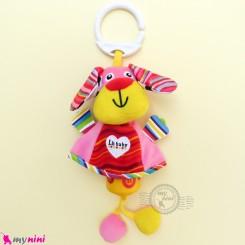 عروسک آویز صدادار پولیشی سگ LH Baby Plush Toys