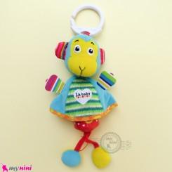 عروسک آویز صدادار پولیشی میمون LH Baby Plush Toys