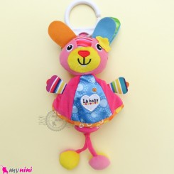 عروسک آویز صدادار پولیشی خرگوش LH Baby Plush Toys