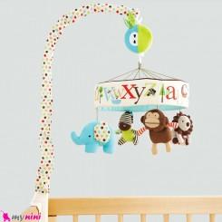 آویز تخت پولیشی موزیکال وارداتی فیل مارک SKK Baby musical mobile