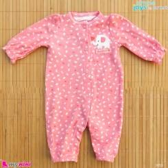 سرهمی نوزادی نخ پنبه ای مارک اورجینال سیمپل جویز کارترز صورتی فیل simple joys baby cotton overall