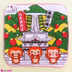 حوله دست نوزاد و کودک صورتی میمون Baby washcloths