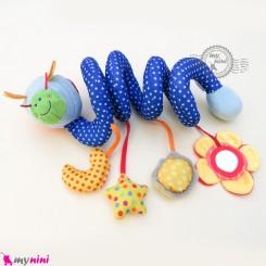 عروسک آویز پولیشی موزیکال زنبور baby activity spiral plush toy