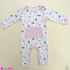 سرهمی نوزاد و کودک نخ پنبه ای مارک اورجینال چیک پی 6 تا 9 ماه baby bodysuit